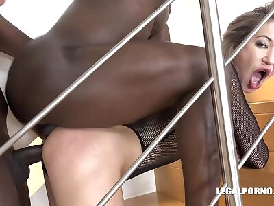 XXXtreme interracial reproduction penetration fucking of horny mart Nikki Dikki