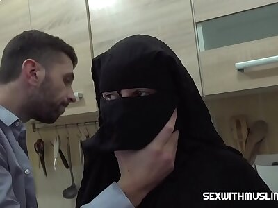 Queasy muslim wife was punished by hard intercourse