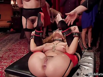 Slaves tormented and anal fucked orgy