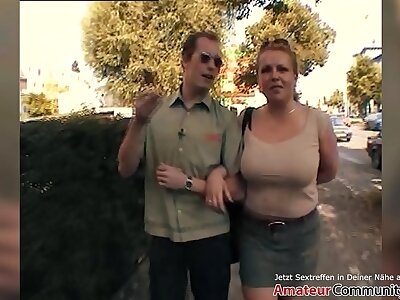 PUBLIC! Milf picked up at gas shoddy and fucked right away